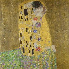 The Kiss- Gustav Klimt (1862-1918) Elmas Mozaik Tablo 58x58cm